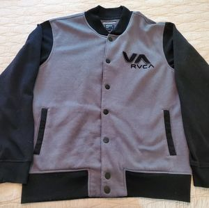 RVCA Bomber Button-Up Sweatshirt (Large; Mens)